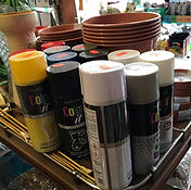 We've got lots of different spray paints