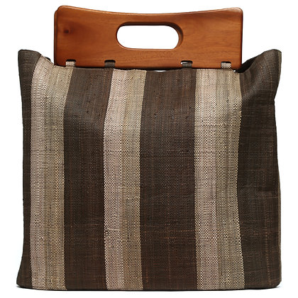 Brown Stripes Big Beach Bag