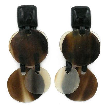 Natural Coins Horn Earrings