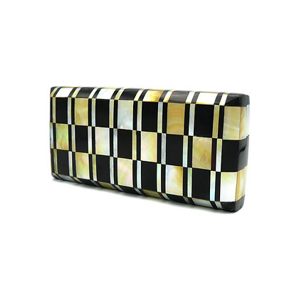 Gold Mother of Pearl Shell Chess Evening Bag