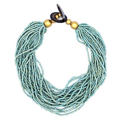 Wild Beads Necklace - Aqua