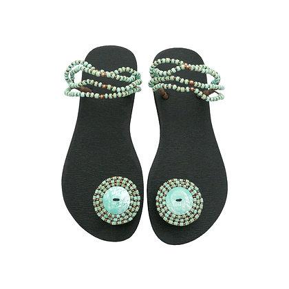 Boho Turquoise Abalone Sandals
