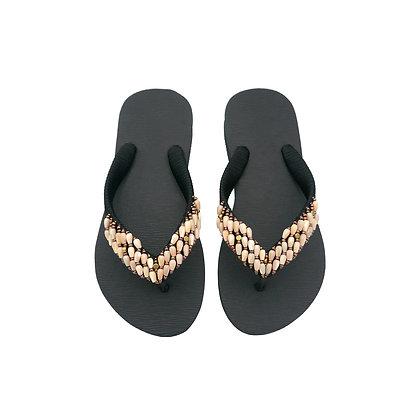 Peach Shell Beads Sandals