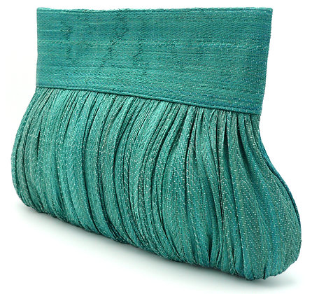 Plisse Clutch Bag