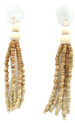The Great Gatsby White Shell Tassel Earrings
