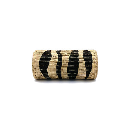 Zebra Cylinder Clutch Bag