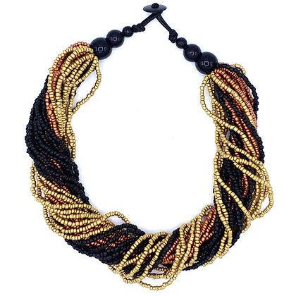 Wild Beads Necklace - Metallic