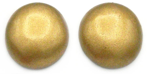 Champagne Gold Wood Button Earrings