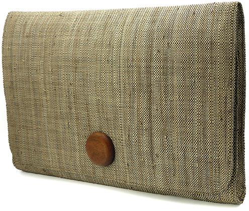 A4 Envelope Tweed Clutch Bag