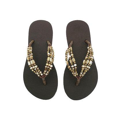 Goddess Gold Beads Straps Sandals