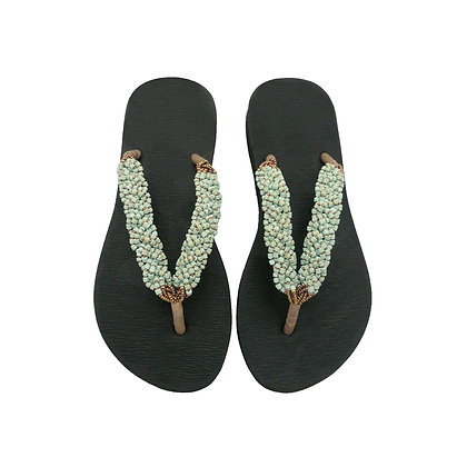 Braided Turquoise Coco Sandals