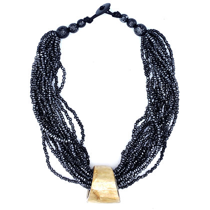 Meteor Grey Beads Necklace