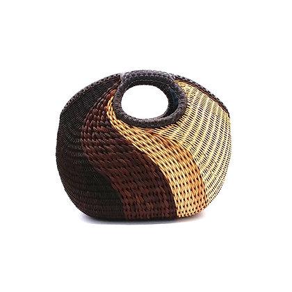 Brown Wavy Basket