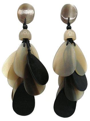 Teardrop Horn Earrings