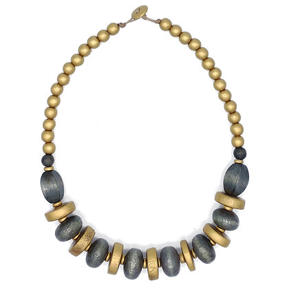 Gold and Grey Chunky Necklace