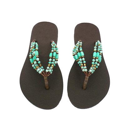 Goddess Turquoise Beads Straps Sandals