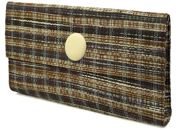 Tweed Brown Clutch Bag