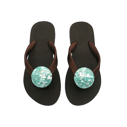 Bay Abalone Shell Button Sandals