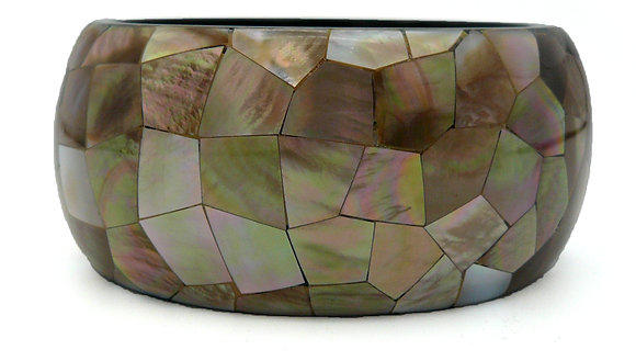 Brown Mother of Pearl Shell Bangle