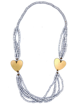 Metallic Hearts Necklace
