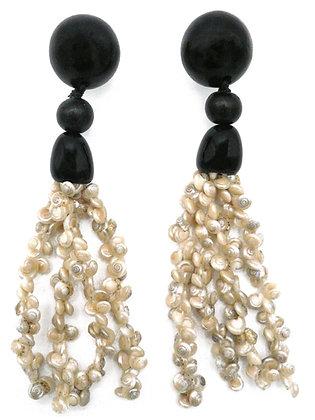 Baby Conch Shell Tassel Earrings