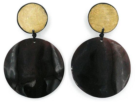 Pen Shell Giant Disc Earrings