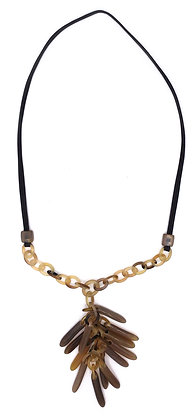 Natural Horn Tassels Necklace