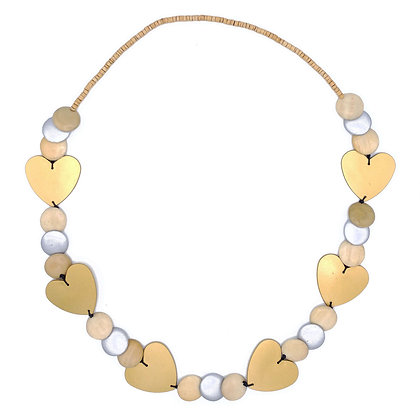 Queen of Gold Hearts Necklace