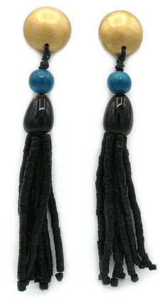 Cleopatra Green Earrings