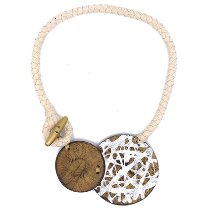 White Reversible Necklace