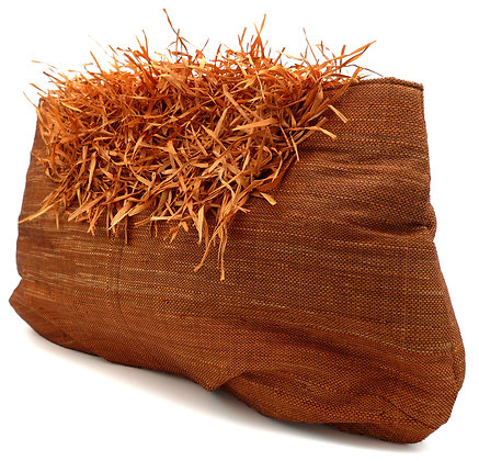 Rust Grasshead Large Clutch Bag