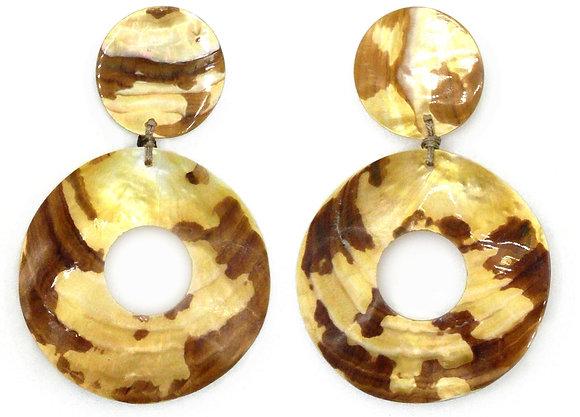 Tiger Goldlip Huge Shell Earrings