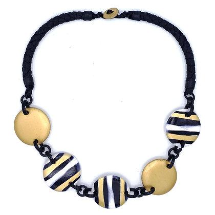 Gold Zebra Necklace