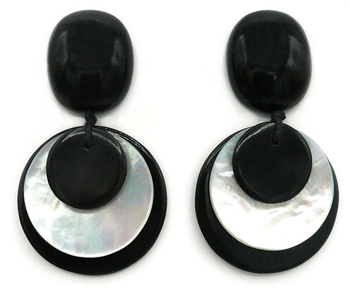 Eye of the Storm Shell and Horn Earrings