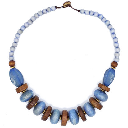 Lilac & Brown Chunky Necklace