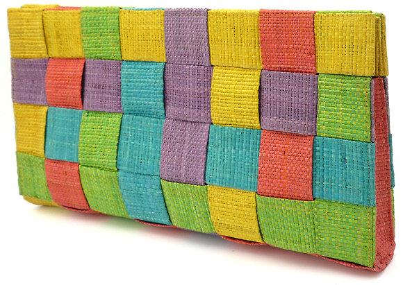 Multicolor Pixels Clutch Bag