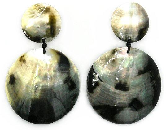 Blacklip Shell Gong Earrings