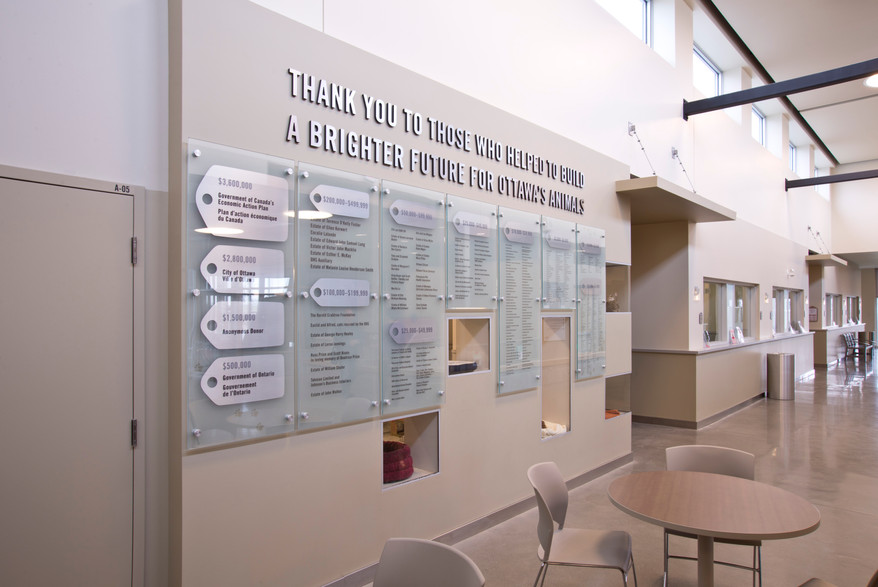 Ottawa Humane Society Donor Wall