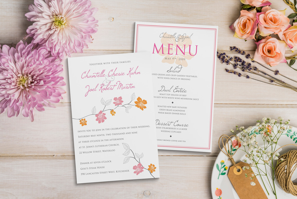 Wedding Invitation & Menu