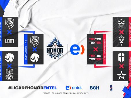 Cuatro equipos, 2 cupos para la segunda semifinal de la Liga de Honor Entel