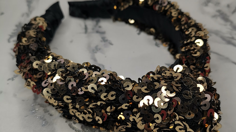Sequin Headband Gold