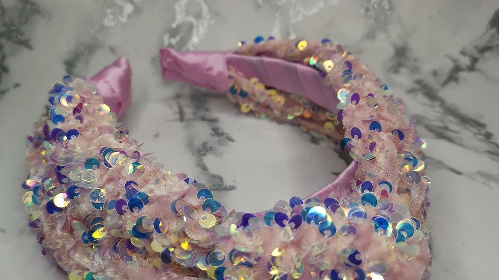 Sequin Headband Pale Pink