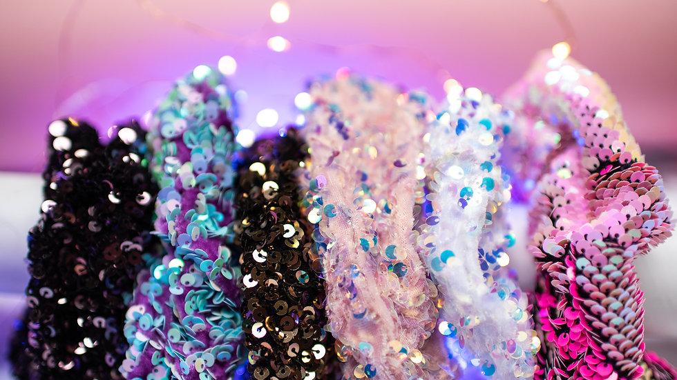 Sequin Scrunchies