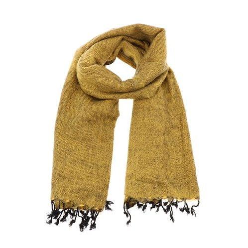 Sjaal uit Nepal Yakwool okergeel