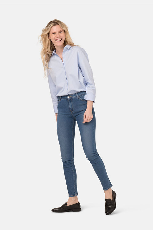 Mud Jeans Skinny Hazen  Pure Blue
