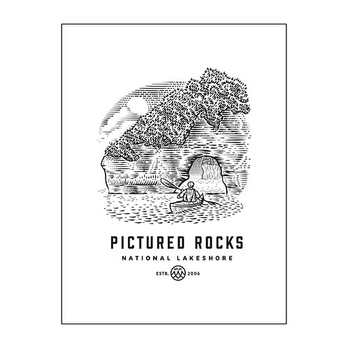 Pictured Rocks Poster