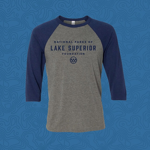 Gray/Blue Baseball T-Shirt - Lake Superior