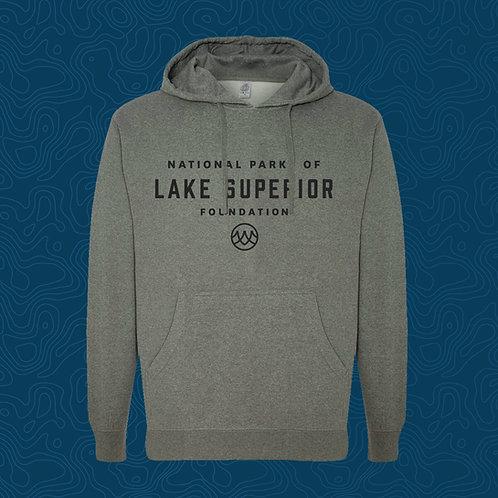 Gray Hoodie Sweatshirt - Lake Superior