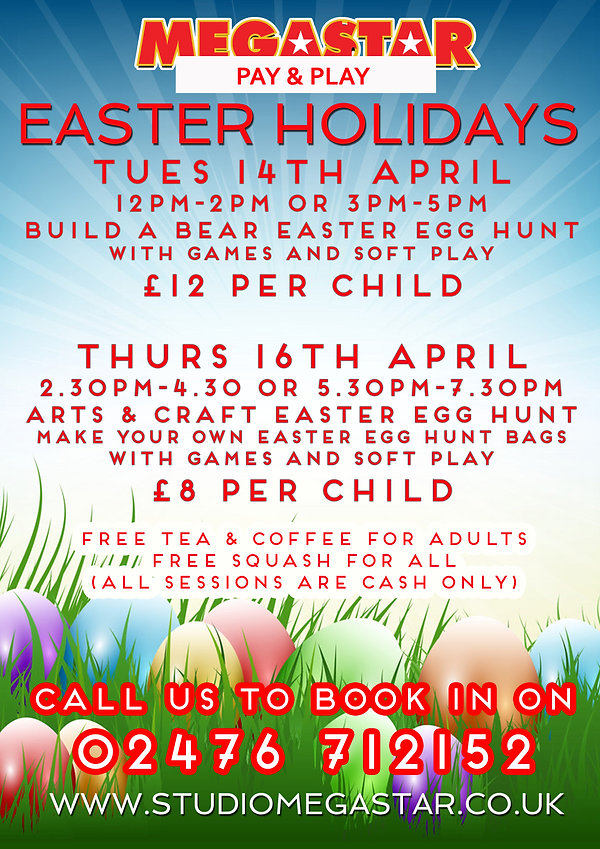 Easter Holidays soft play