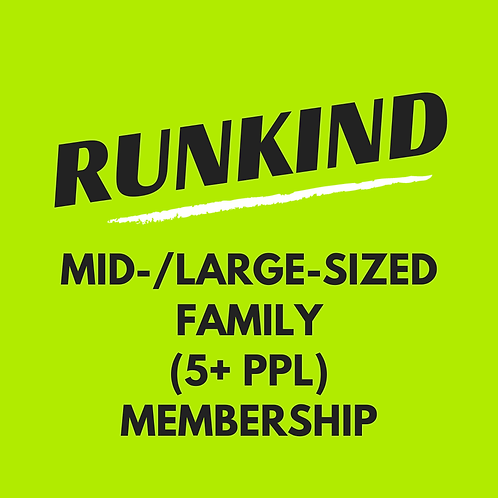 Large Family RunKind Annual Membership